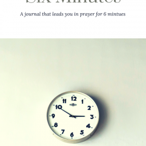 Six Minutes: A journal that leads you in prayer for 6 minutes
